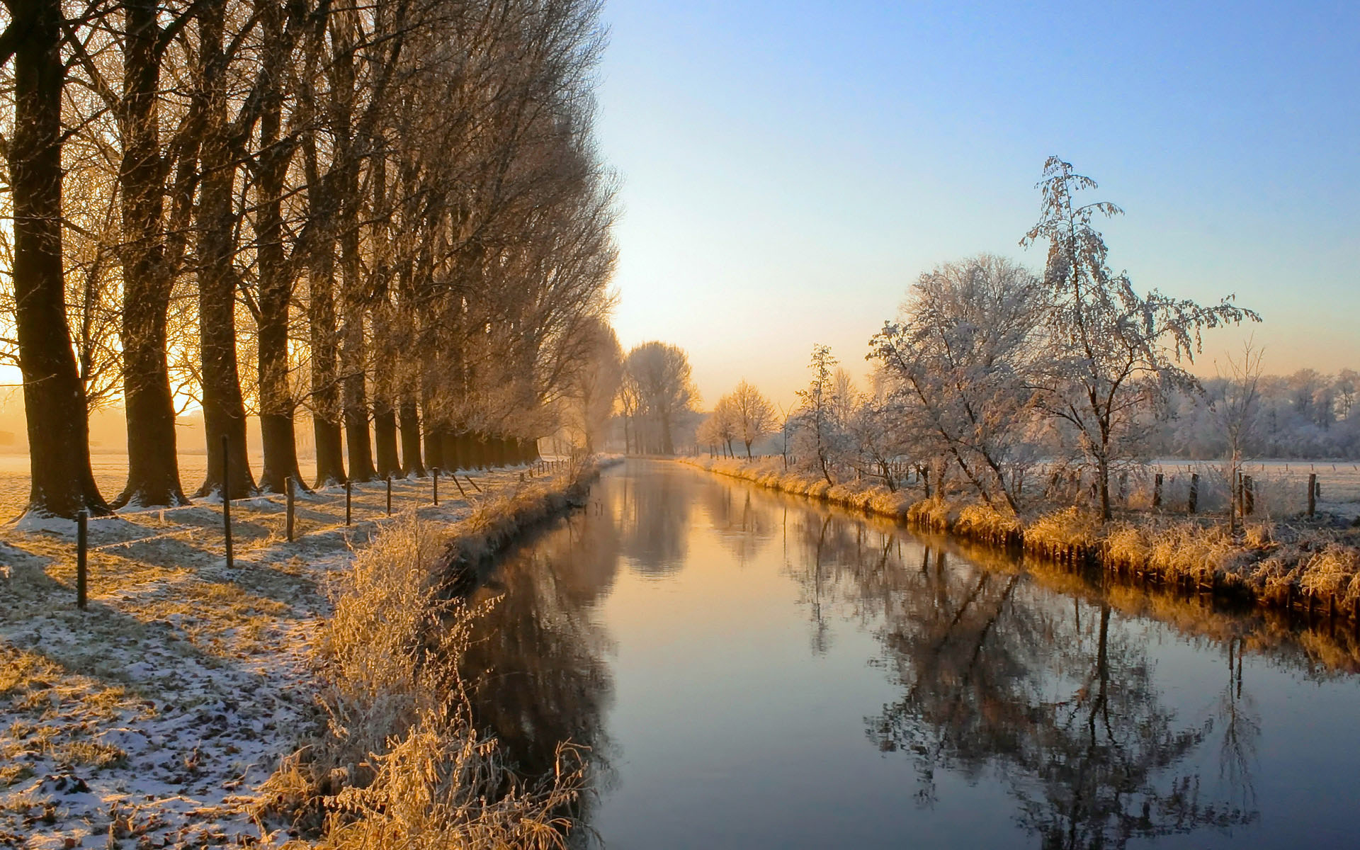 River Niers in the Niederrhein region, Germany
