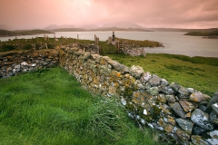 Stone Wall at Timsgarry, on the Isle of Lewis, Scotland, UK