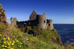 Ruins of Dunluce Castle, Antrim, Northern Ireland, UK