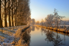 River Niers in the Niederrhein region, Germany